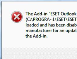 Microsoft Office Outlook Fehler