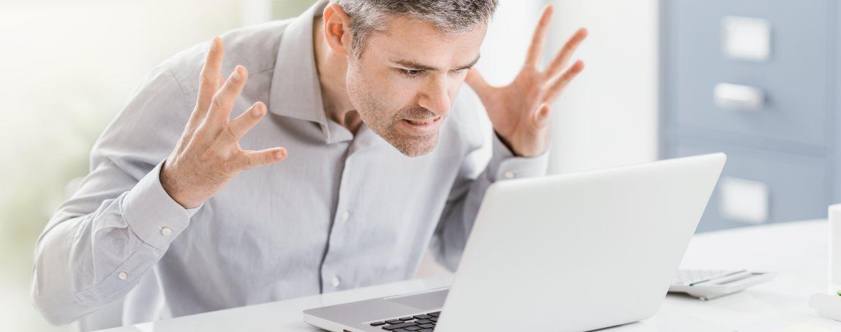 Computerprobleme am Laptop